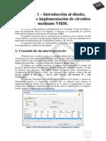 Práctica 1 - Diseño, Simulación e Implementación de Circuitos Mediante VHDL