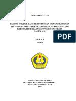 Faktor-faktor Yang Berhubungan Dengan Kejadian Tbc-paru Di Wilayah Kerja Puskesmas Bolangitang Kabupaten Bolaang Mongondow Utara Tahun 2010