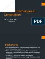 Low Cost Techniques in Construction