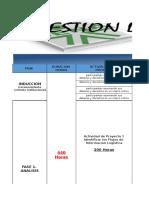 Cronograma General Actividades Tecnologia en Gestion Logistica
