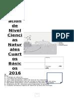 Ciencias Cuartos Basicos 2016