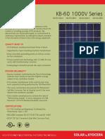 Kyocera KB260-6BPA datasheet