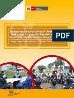 Lineamientos Educativos y Orientaciones Pedagogicas Para La Prevencion de Las Infecciones de Transmision Sexual Vih y Sida