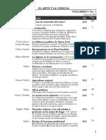 ARTE Y CIENCIA_Contenido Revista