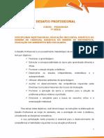 Desafio Profissional - Pedagogia 7ª Série
