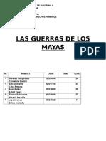 Las Guerras de Los Mayas