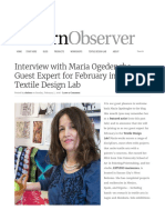 Interview with Maria Ogedengbe