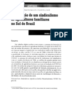 Picolotto 2014 - A Formação de Um Sindicalismo de Agricultores Familiares No Sul Do Brasil
