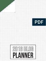2016 Blog Planner