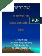 3. Ore Body & Geostatistics