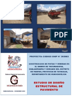 1. Estudio de Diseño Estructural de Pavimento