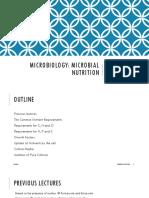 Week 3 Microbial Nutrition
