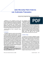 Reconfigurable Microstrip Patch Antenna
