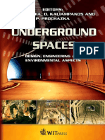 Underground Spaces - Design, Engrg., Environ. Aspects - C. Brebbia, Et. Al., (WIT, 2008)