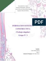 Trabajo Singular. Formacion Estetica Constructiva