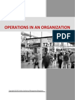 Operations in an Organization