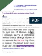 7 Práticas Úteis Para Se Manter Super Focado - Blog Do Agendor