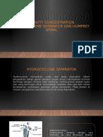 Hydrocyclone Separator Dan Humprey Spiral