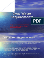 Chapter 3 Crop Water Requirements