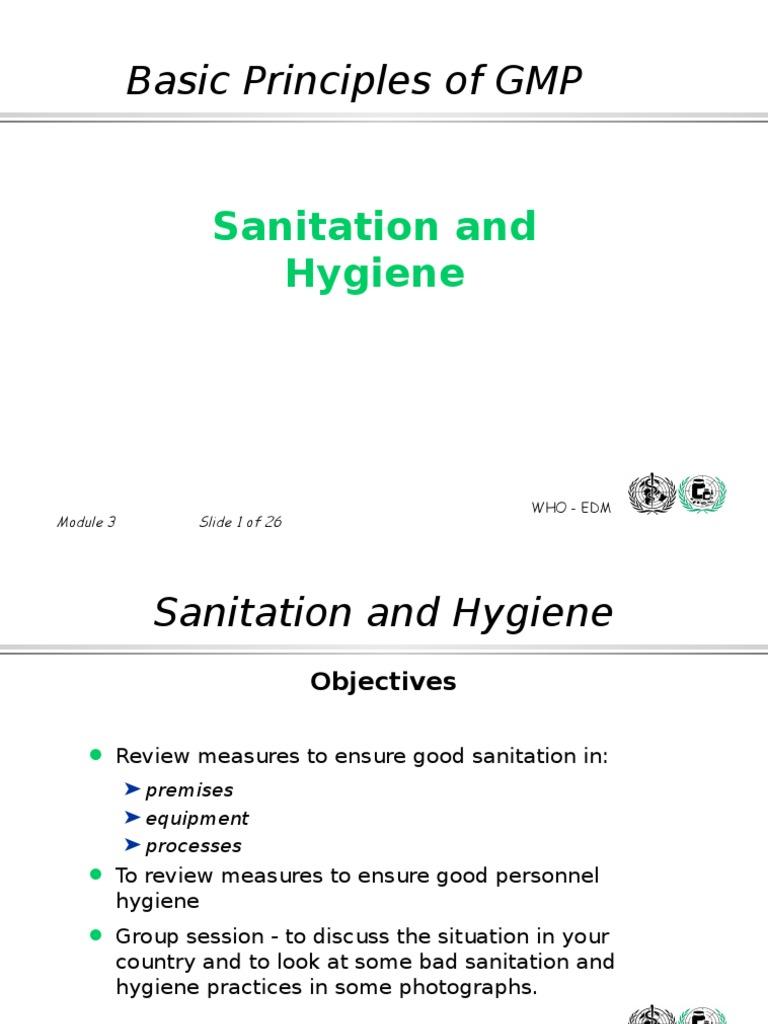 Hygiene And Sanitation Ppt