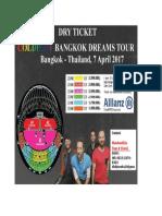 Coldplay Flyer -DIAH