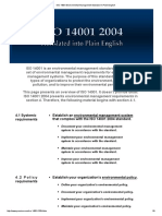 ISO 14001 Environmental Management Standard in Plain English