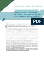 Réponses au SNE  Jacques Cheminade