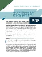Réponses au SNE   Jean Luc Melenchon