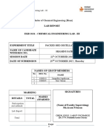 Packed Bed Distillation Column Lab Report