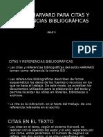 ESTILO HARVARD PARA CITAS Y REFERENCIAS BIBLIOGRÁFICAS