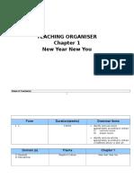 English KSSM Form 1 Teaching Organizer Chapter 1