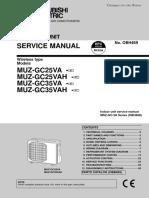 Servisni Manual Venkovni Mitsubishi