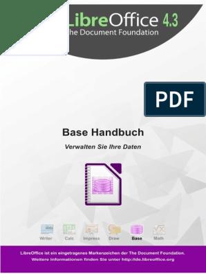 Libreoffice 4 3 Base Handbuch