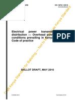 KS 1876-1-2010 Overhead Power Lines for Kenya - Code