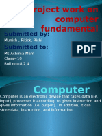 Project Work on Computer Fundamental