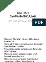KAEDAH SYARAHAN