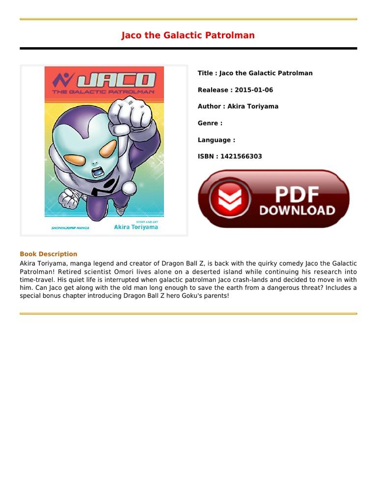 Ebook Online Jaco The Galactic Patrolmanpdf  Dragon Ball  Science  (general)