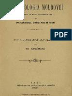 (1892) Arhondologia Moldovei. Amintiri & Note Contimporane. de Paharnicul Constantin Sion [G. Ghibanescu]