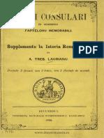 (1869) Fastii Consulari Cu Adaussulu Fapteloru Memorabilia. Suppl. La Ist. Romaniloru [a.T. Laurianu]