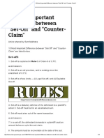 10 Most Important Difference Between _Set-Off_ and _Counter-Claim