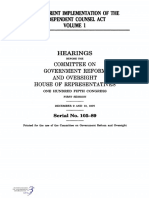 HOUSE HEARING, 105TH CONGRESS - THE CURRENT IMPLEMENTATION OF THE INDEPENDENT COUNSEL ACT VOLUME I