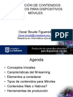 Producción de Contenidos Educativos Para Dispositivos Móviles