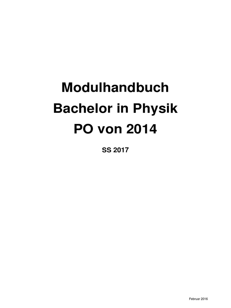 Modul Hand Buch | Classical Electromagnetism | Theoretical Physics