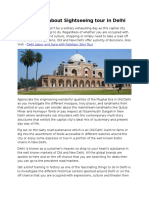Information About Sightseeing Tour in Delhi