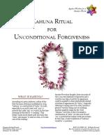 Kahuna Ritual for Unconditional Forgiveness