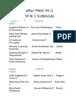 Daftar Piket VII