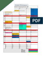 Academic Calendar-Spring 2017