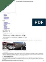 Carro Antigo - Matérias - 10 Dicas Para Comprar Um Carro Antigo