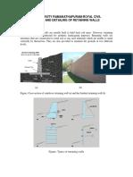 Design & Detailing of Retaining Walls