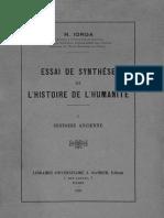 Nicolae Iorga - Essai de Synthèse de l'Histoire de l'Humanité. Volumul 1 - Histoire Ancienne